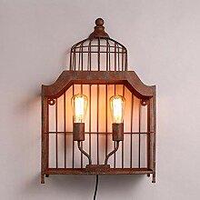 HhGold Retro Style Lampe Eisen Körper aus Eisen