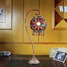 HhGold Retro Tischlampe Bunte Lampe für