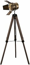 HHKQ Holz Dreibein Stehlampe, Vintage Retro Stativ