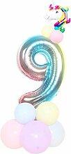 HHMao 1 Set Einhorn Geburtstags Ballons 32 inch