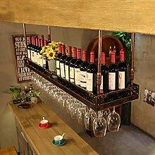 HHMMG Weinregal zur Wandmontage Hanging Red Wine