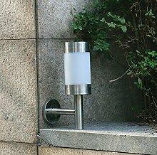 HHORD LED-Wand-Licht-wasserdichtes Edelstahl-E27