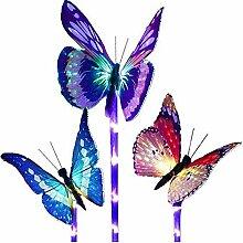 HHY Led Schmetterling Solar String Licht 3 Stück