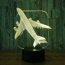 HHYXIN Nachtlicht Air Plane 3D Light Tischleuchte