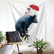 hhyyoo Englisch Schlafzimmer Tapisserie Wandbehang