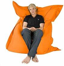 Hi-BagZ 4-Wege Riesensitzsack XXL – der RIESE Outdoor Sitzkissen KNICKENTE - 100% Wasserabweisend Sitzsack (orange)