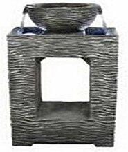 Hi- Line Gift 79566 Deko-Brunnenschale mit Lich