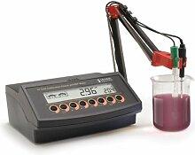 hi2222–02–phmetro-Werkbank Profi-Oenologie, komplett mit Elektrode PH und Temperaturfühler (Hi 1048p und Hi 7669/2W), Lösungen Tupfer (PH 7und 3) und Wartung, Neues Modell mit USB und großes Display