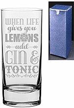HiBall Gin Tonic Wodka-Glas mit Gravur/bedruckt,