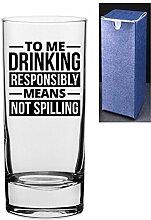 HiBall Gin und Tonic Vodka-Glas mit