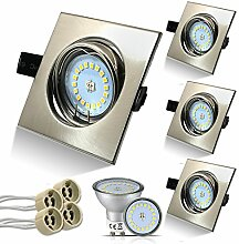 HiBay® Eckig LED Set 4 Stück Einbaustrahler 5W