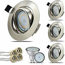 HiBay® Set 4 x GU10 Einbaustrahler LED, 230V, 5W,