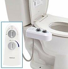 Hibbent Bidet Attachment Self Clean Dual Nozzles -