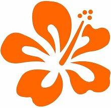 Hibiskus Aufkleber 003, 40 cm, orange