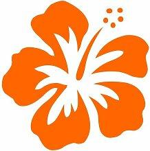 Hibiskus Aufkleber 005, 50 cm, orange