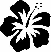 Hibiskus Aufkleber 005, 50 cm, schwarz