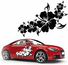 Hibiskus design Aufkleber für das Fahrzeug