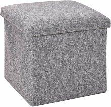 hibuy Aufbewahrungsbox, Faltbarer Sitzhocker,