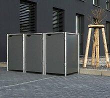 Hide Mülltonnenbox, für 3 x 120 l, grau B/H/T: