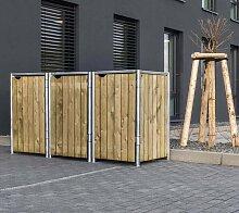 Hide Mülltonnenbox, für 3 x 120 l, natur B/H/T:
