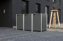 Hide Mülltonnenbox, für 3 x 240 l, grau grau