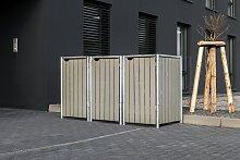 Hide Mülltonnenbox, für 3 x 240 l, grauxnatur