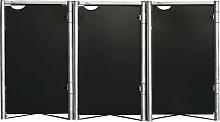 Hide Mülltonnenbox, für 3 x 240 l, schwarz