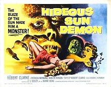 Hideous Sun Demon Poster 02 Metal Sign A4 12x8 Aluminium