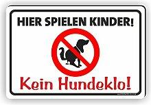 HIER SPIELEN KINDER / KEIN HUNDEKLO - Kein
