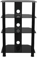HiFi-Rack ClearAmbient Farbe: Schwarz/Schwarz
