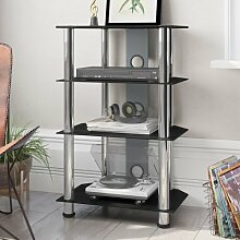 HiFi-Rack ClearAmbient Farbe: Schwarz/Silber