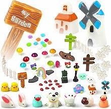 Hifot Garten Ornamente Miniatur Zubehör