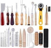 Hifuture 25-teiliges Set Leder-Werkzeug-Set -