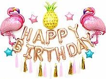 hifuture Happy Birthday Banner und Ballons