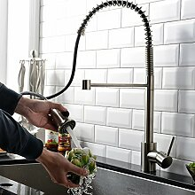 High Arch Modern Chrome Single Hole Double Lever Mono Mixer Kitchen Sink Taps, Deck Mounted Bar Tap by Taps UK