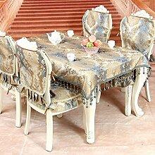 High-end-european-style Tapete,Tischdecken Stuhlhussen Kissen,Luxus Premium-tuch Tischläufer,Kunst Couchtisch Stoff Tischdecke-A 90*90cm(53inchx35inch)