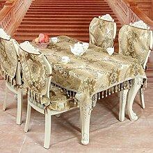 High-end-european-style Tapete,Tischdecken Stuhlhussen Kissen,Luxus Premium-tuch Tischläufer,Kunst Couchtisch Stoff Tischdecke-B 145x180cm(57x71inch)