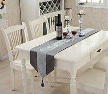 High - End - Luxus - Tischfahne Restaurant Tisch Tischdecke TV - Schrank Couchtisch Stoff Bett Tuch Handtuch ( größe : 32*210cm )