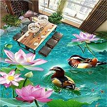 High - Level Tapete Lotus Mandarin Ente Wohnzimmer