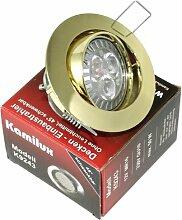 High Power LED Einbauleuchte Strahler Jenny Farbe gold 230V 5 Watt in Warmweiß