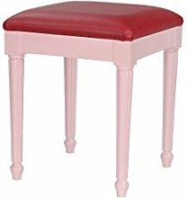 High Street Design Pink kleiner Frisiertisch, Fußstütze mit Stil Beine und Säule Kissen aus Kunstleder von Farbe Ro