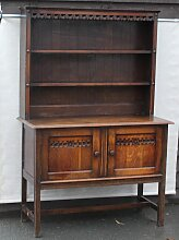Highboard aus Eiche, 1930er
