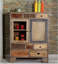 Highboard aus Recyclingholz Landhaus