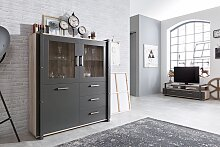 Highboard Dekor Sorrento Eiche / anthrazit