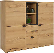 HIGHBOARD Eiche furniert geölt Anthrazit,