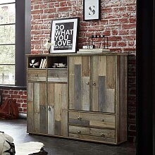Highboard in Grau Treibholz Dekor