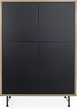 Highboard Maxi - Minimal - Schwarz