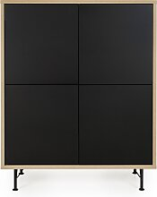 Highboard - Minimal - Schwarz