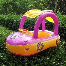 Highdas Aufblasbare Babysitz Float Boat Beach Auto Sonnenschutz Wasserpool Canopy