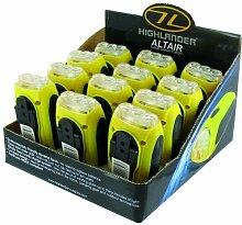 Highlander Dynamo-Taschenlampe Altair, mit Handkurbel, Gelb/ Schwarz